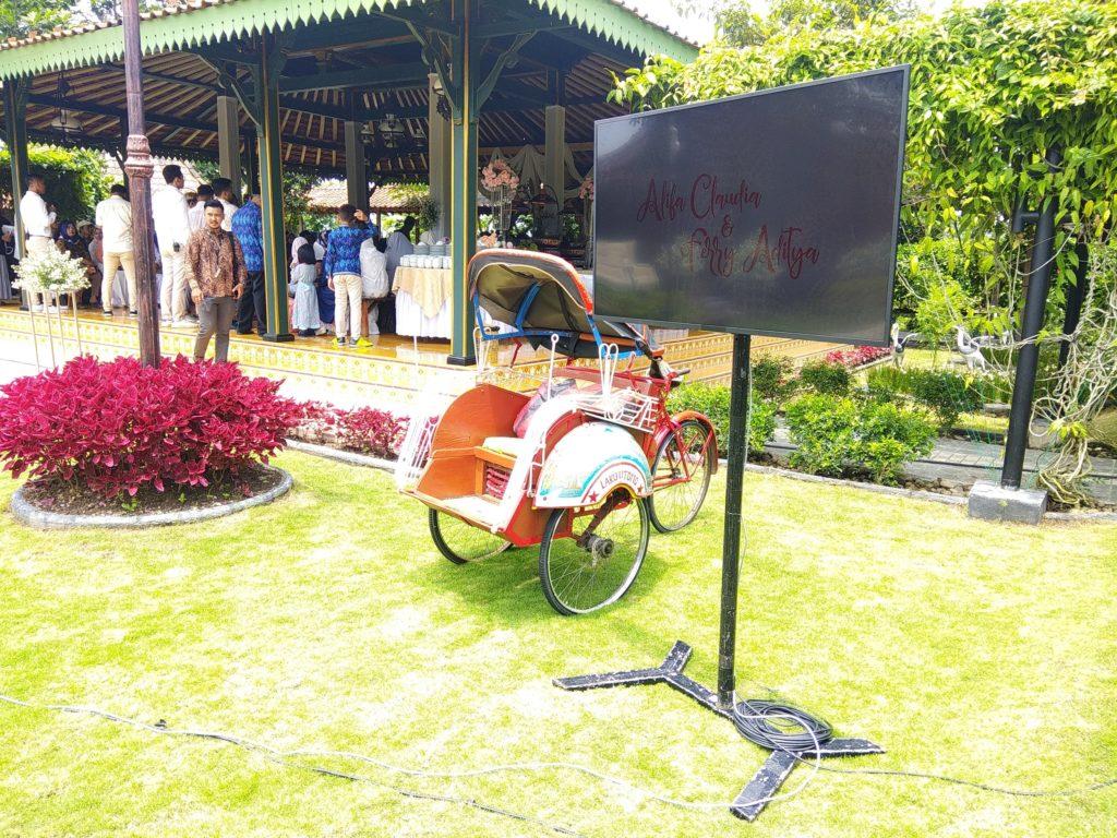TV LED Untuk Wedding Event
